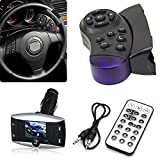"""New Silver&Black 1.5"""" LCD Car Kit MP3 Bluetooth Player Wireless FM Transmitter Modulator Hands Free Call With USB SD MMC+Remote Control Top Steering Wheel Handsfree New Car Kit MP3 Wireless Bluetooth Player SD MMC USB"""