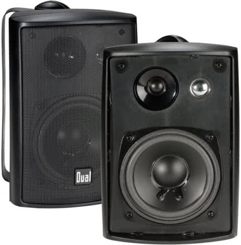 Dual Electronics LU43PB 4 inch 3-Way High Performance Indoor, Outdoor & Bookshelf Studio Monitor Speakers with Swivel Brackets & 100 Watts Peak Power