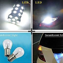 YINTATECH Super White 6000K LED Car Lights Bulb 1157 BAY15D 27SMD 5050 Car RV Turn Signal Parking Lights 7528 2057 2357 DC 12V (4 Pack)
