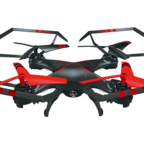 WARMSHOP Remote Control Quadcopter With HD Camera 6-Axis Gyro Flying Toys Helicopter (Red) by WARMSHOP