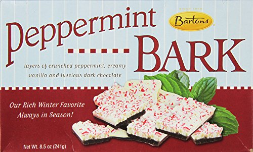 Bartons Gold Old Fashioned Peppermint Bark Dark Chocolate Holiday Candy, 8.5 oz (Pack of - Barton Outlet