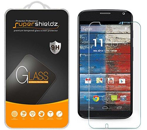 [2-Pack] Supershieldz for Moto X (1st Gen) Tempered Glass Screen Protector, Anti-Scratch, Anti-Fingerprint, Bubble Free, Lifetime Replacement Warranty