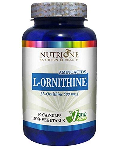 L-ORNITINA 90 Cápsulas 500mg NUTRIONE -Mejora sistema inmune - Regenera hígado: Amazon.es: Salud y cuidado personal