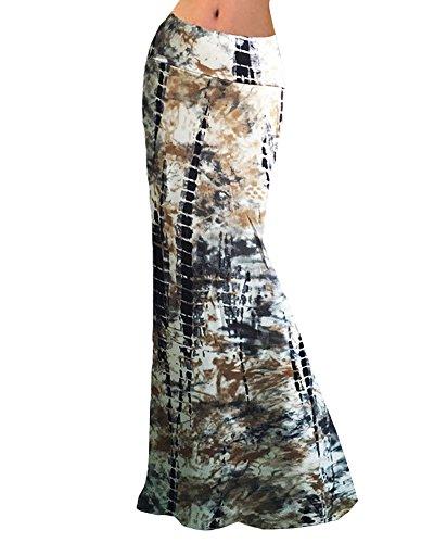 las mujeres Maxi Falda De Playa largos Estampado floral del verano Faldas De Fiesta 5