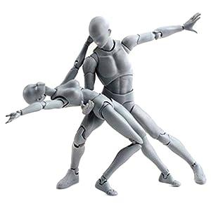 Uranny Body-Chan Model, Body Kun Doll PVC Body-Chan DX Action Play Art Figure Model Drawing For SHF