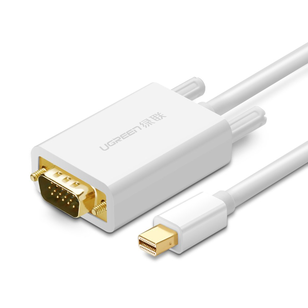 UGREEN Mini DisplayPortto VGA Cable Gold Plated Mini DP (Thunderbolt) to VGA Male to Male Cable Cord Supporting 1080P for MacBook,MacBook Pro, MacBook Air, iMac, Surface Pro 4, 3 and More (10ft) UGREEN GROUP LIMITED 10444