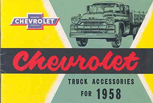 - 1958 Chevrolet Truck Accessories Brochure Pickup Canada