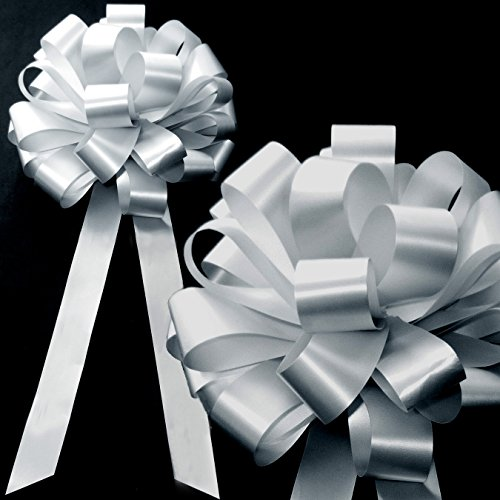 Silver Pull Bows with Tails - 8