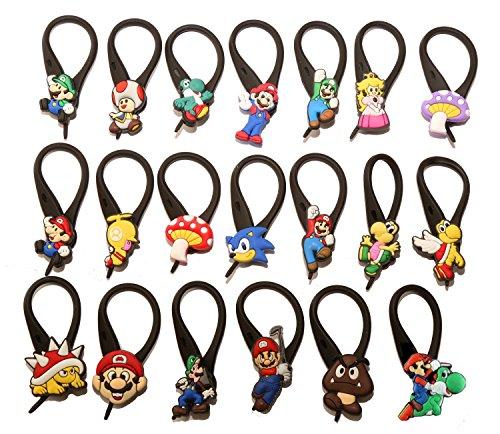 [AVIRGO 20 pcs Soft Zipper Pull Charms for Backpack Bag Pendant Jackett Set # 66] (Donkey Kong Costume For Women)