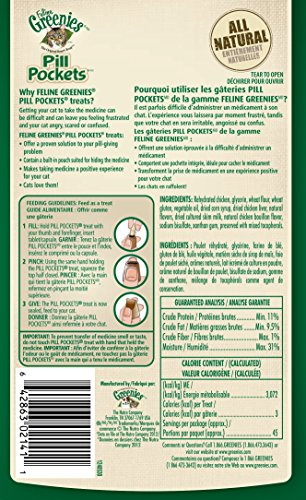 FELINE-GREENIES-PILL-POCKETS-Cat-Treats-Chicken-45-Treats-16-oz