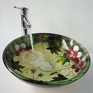 Contemporáneo Multicolor Baño Set lavabo (lavamanos y grifo)