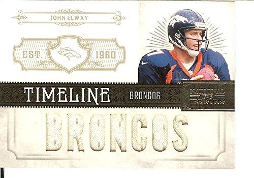National Treasures Football NFL 2011 Timeline Materials Custom Names #9 John Elway MEM 5/99 Broncos by National Treasures