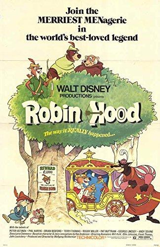(Robin Hood Poster Movie 11x17 Roger Miller Brian Bedford Monica Evans Phil Harris)