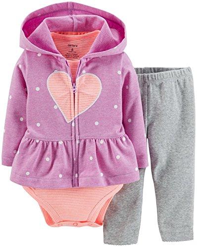 Carter's Baby Girls' 3 Piece Cardigan Set (Baby) - Purple Heart - 12 Months