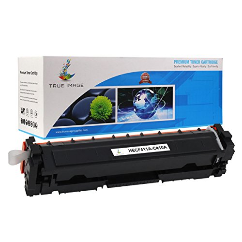 TRUE IMAGE Compatible Toner Cartridge Replacement for HP 410A ( Cyan )