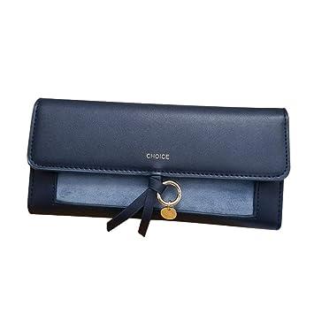 b1d96c5f6 Ruikey Billeteras Mujer Grandes Billeteras Mujer Tarjetas Cartera De Mano  Mujer para Moneda Efectivo Tarjeta(Azul): Amazon.es: Equipaje