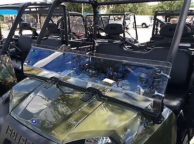 (2008-2014 POLARIS RANGER 800 FULL SIZE, 2016-2018 POLARIS RANGER 570 FULL SIZE CREW 1/4 POLYCARBONATE HALF WINDSHIELD)