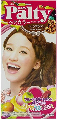 Dariya Palty Hair Color Dye For Dark Hair, 1.4OZ+2.7FLOZ (New 7 colors available) (Beige Brown)