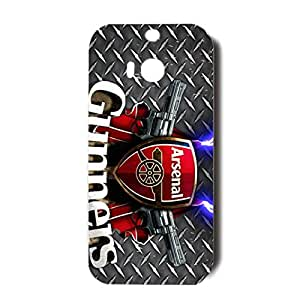 Unique Design Arsenal Football Club Phone Case 3D Durable Phone Case for Htc One M8 Arsenal FC Logo
