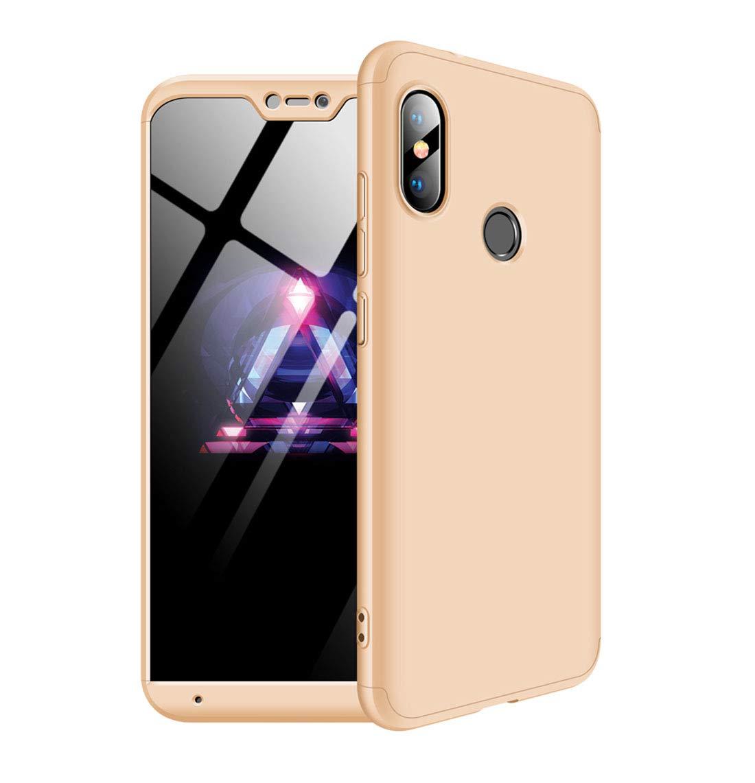 MYLB Xiaomi Redmi 6 Pro Case/Xiaomi Mi A2 Lite case,360 Degree Full Body  Coverage Protection [3 in 1] Anti-Scratch Detachable PC Hard Cover  Protective