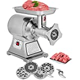 LOVSHARE Electric Meat Grinder 750W 1 HP 190 PRM Mincer 375 LB Sausage Maker Commercial Stainless Steel Food Grinding Mincing Machine Home Kitchen Tool 5 Cutting Plates and 2 Cutting Knives (AL-22)