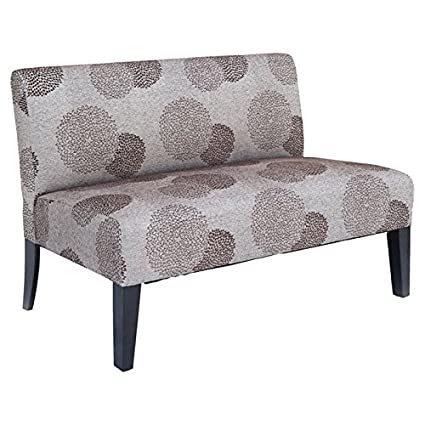 Amazon.com: Excellent Armless Settee, Features Kiln Dried Hardwood ...
