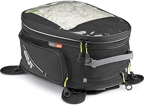 Givi EA102B Easy Bag - Bolsa de depósito universal expandible, dotada de imanes para la fijación al depósito, volumen 25 l, carga máxima 3 kg
