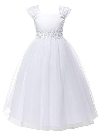 e1f1ef954d16 Amazon.com  iGirldress Big Girls  Cap Sleeved First Holy Communion ...