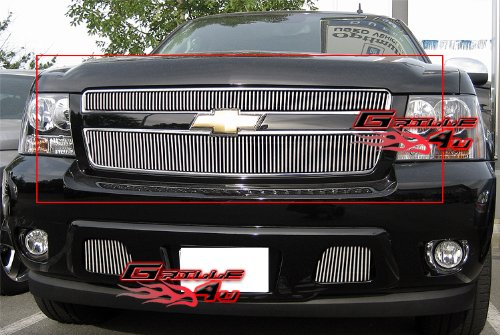 APS Compatible with 2007-2014 Tahoe/Suburban/Avalanche Vertical Billet Grille Grill Insert # C66451V ()