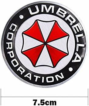 Umbrella Corporation Resident Evil Runden Metall Auto Aufkleber Abzeichen Decal Sport Freizeit
