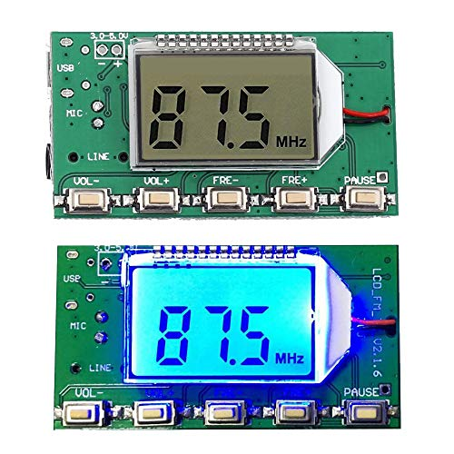- Icstation Digital FM Transmitter Stereo Frequency Modulation DSP PLL 76.0-108.0MHz Wireless Module LCD Display