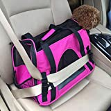 Sforza Dog Purse Carrier for Small Dogs, Cat Car Carrier Purse, Rose