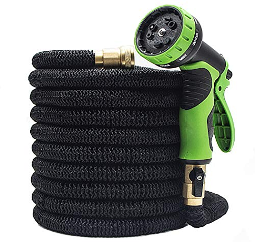 LIERB Expandable Garden Hose with Spray Nozzle Gun (75 ft) Heavy-Duty, Tangle and Kink Free Gardening Use | Water Plans, Lawn, Vegetables | Wash Cars, Pets, Driveways