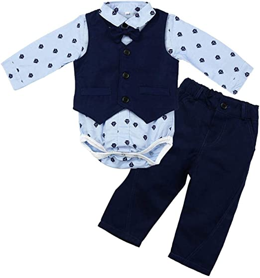 0-2 Years,SO-buts Toddler Newborn Infant Baby Boy Gentleman Suit Bow Tie Long Sleeve Romper Jumpsuit Clothes Outfits
