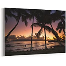 Westlake - Canvas Print Wall - Centre Commercial - Canvas Stretched Gallery Wrap - Modern Picture Photography Artwork - Ready to Hang - 18x12in (37x f02)