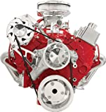 Billet Specialties FM2110PC Long Water Pump Serpentine Conversion Kit for Small Block Chevy
