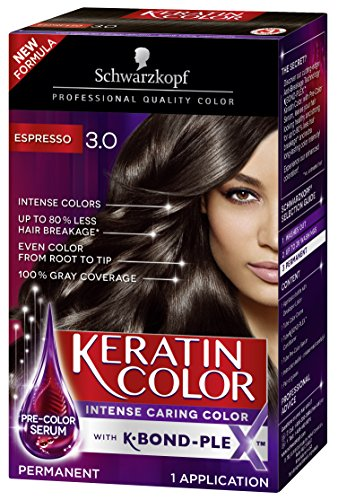 (Schwarzkopf Keratin Color Permanent Hair Color Cream, 3.0 Espresso)