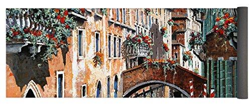 Pixels Yoga Mat w/ Bag ''Inchiostro Su Venezia'' by Pixels
