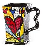 Romero Britto Square Mugs, A New Day
