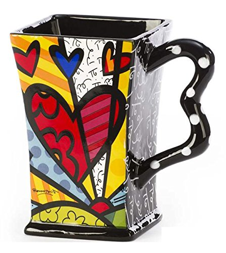 Romero Britto Square Mugs, A New Day