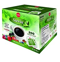 Lantic Stevia - Stevia Leaf Extract Sweetener - 1 box (900g) containing 500 packets (1.8g ea)
