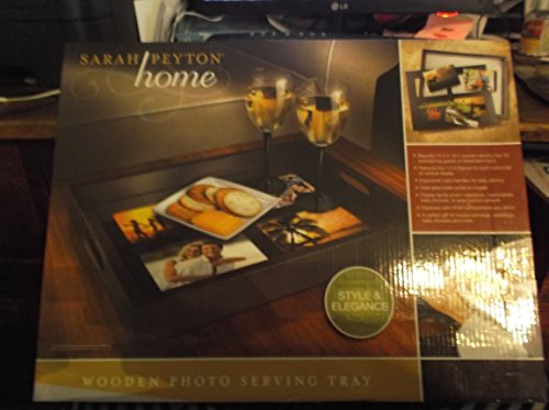 Wooden Photo Frame Serving Tray by Sarah Peyton Home