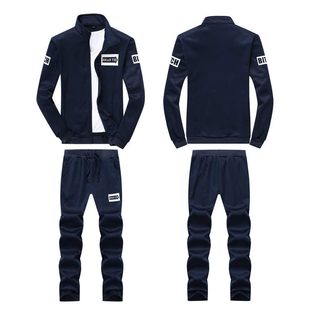 Chandal Tallas Grandes para Hombre Completo Gimnasio Casual Conjuntos 2 Piezas Deportivos Chaquetas Pantalones