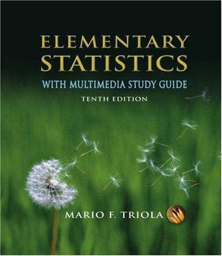 Elementary Statistics With Multimedia Study Guide Tenth Edition