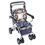 OOFAY rollator walker - Seniors Shopping Walking Thicker Widened Back Height Adjustable/Multifunction Lightweight Rollator