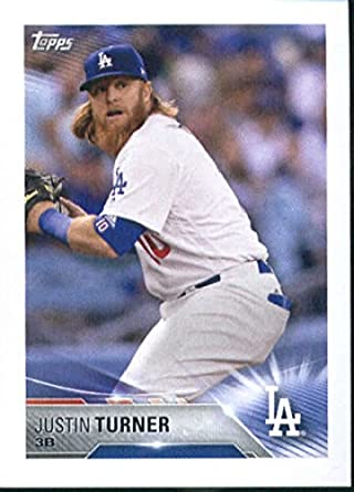 b39540fe5 Amazon.com  2018 Topps Stickers  217 Justin Turner Los Angeles ...