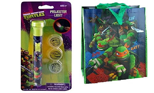 [TMNT Teenage Mutant Ninja Turtles Projector Light Set With Bonus Large Tote Bag] (Nickelodeon Teenage Mutant Ninja Turtles Treat Bags)