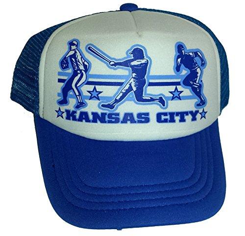 (Toddler Kid's Kansas City Baseball Snapback Mesh Trucker Hat Cap)