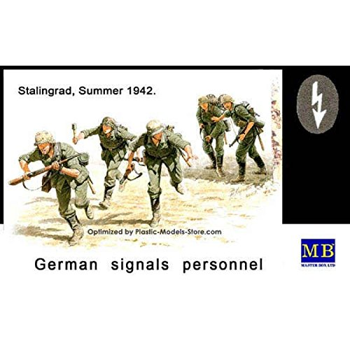 Master Box German Signals Personnel Stalingrad Summer 1942 (5) Figure Model Building Kits (1:35 - Model Master Italian