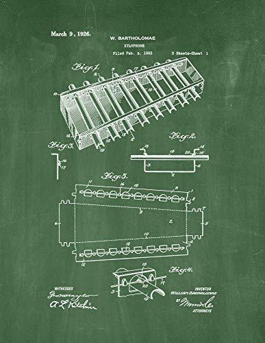 - Xylophone Patent Print Green Chalkboard (5